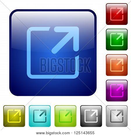 Set of color maximize window glass web buttons.