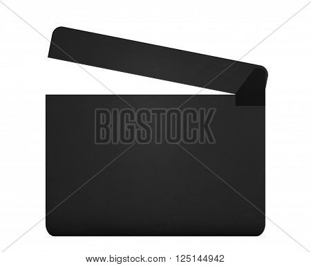 Movie clapperboard isolated on the white background