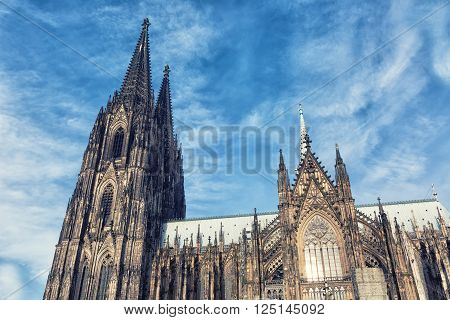Cologne Cathedral. World Heritage - Roman Catholic Gothic cathedral in Cologne.