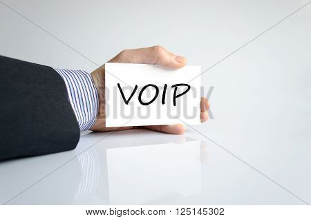 Voip text concept isolated over white background