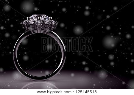 The beauty wedding ring .high resolution 3D image .3D illustration