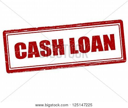 Rubber stamp with text cash loan inside vector illustration