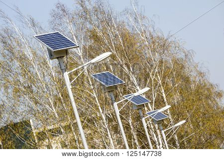 Street Lamps With Solar Panels