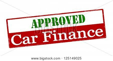 Rubber stamp with text approved car finance inside vector illustration