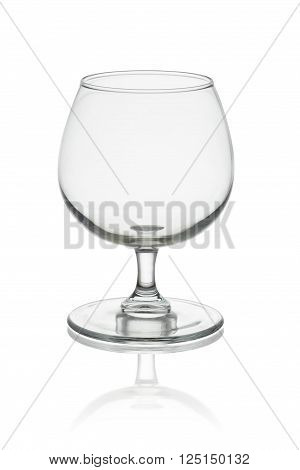 Empty whisky glass isolated on white background clipping path