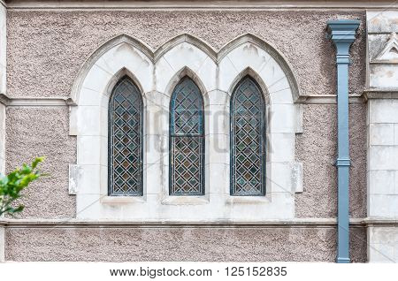 PORT ELIZABETH, SOUTH AFRICA - FEBRUARY 27, 2016: Windows in the Cathedral Church of St Mary the Virgin in Port Elizabeth