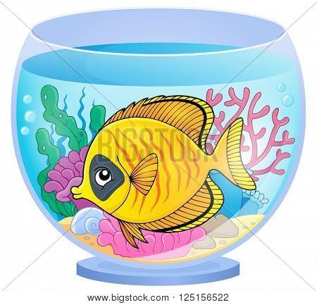Aquarium topic image 3 - eps10 vector illustration.