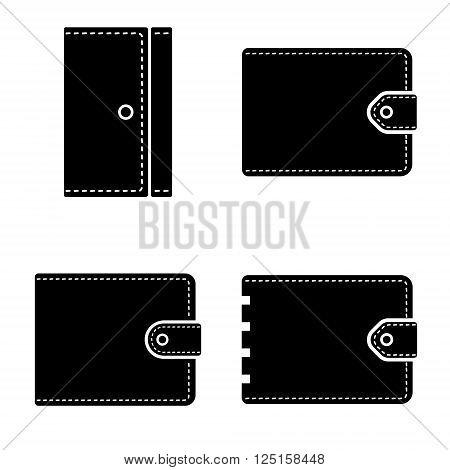 Set of vector man purse. Digital illustration