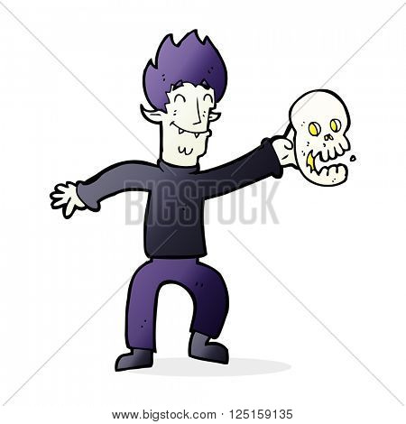 cartoon spooky vampire