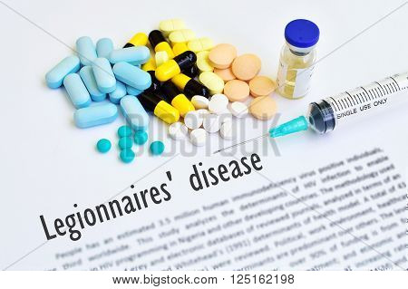 Drugs and syringe for Legionellosis (Legionnaires' disease)