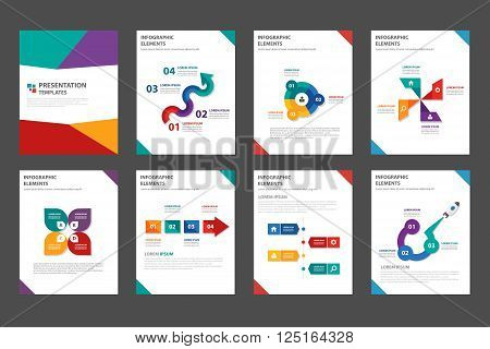 Colorful Vector annual report Leaflet Brochure Flyer template design, book cover layout design