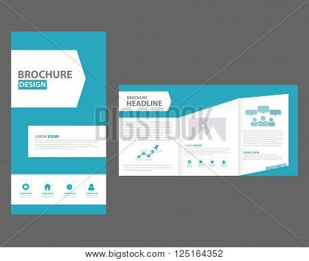 brochure trifold design template flyer vector layout – Sample Book Document