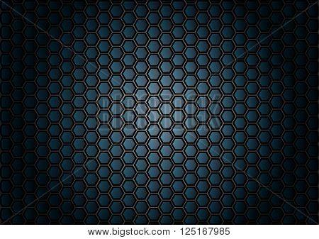 abstract pattern hexagon on blue background. illustration vector design