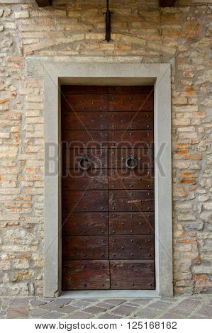 Tuscany Wood Door