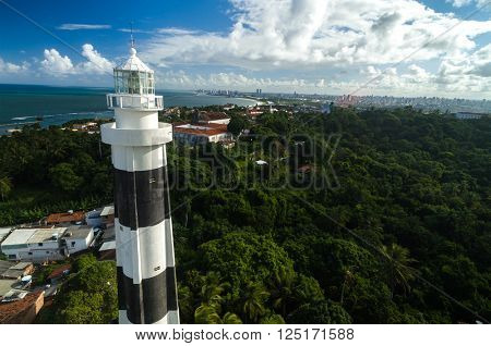 The lighthouse and the beautiful city of Olinda