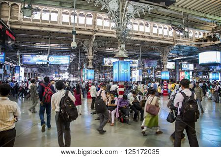 Chhatrapati Shivaji Terminus In Mumbai, India