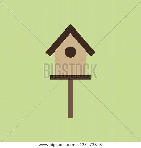 Bird House Icon. Tree House. Vector illustration