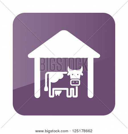 Cowshed icon outline. Farm. Vector illustration eps 10