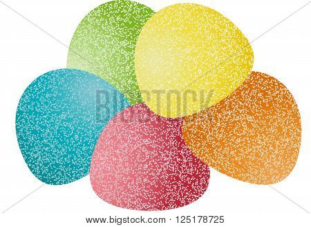 Scalable vectorial image representing a gumdrops candy, isolated on white.