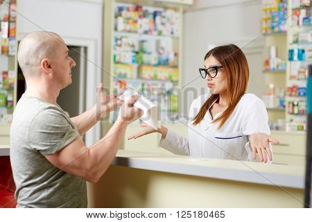 Angry Client In A Pharmacy
