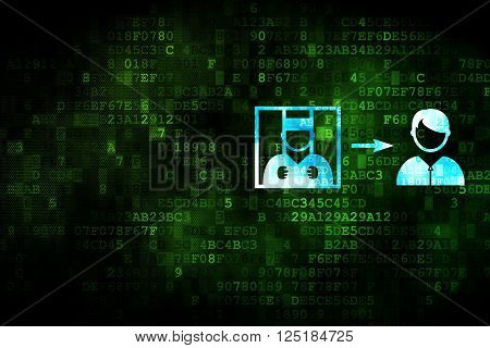 Law concept: Criminal Freed on digital background