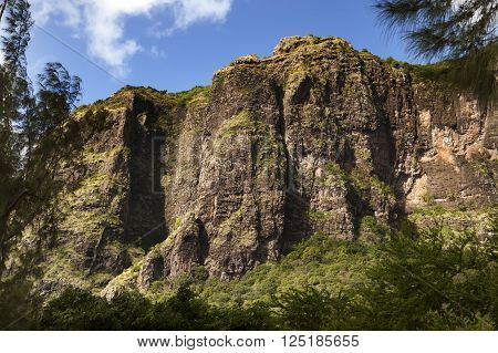 Le Morne Brabant mountain on the south of Mauritius