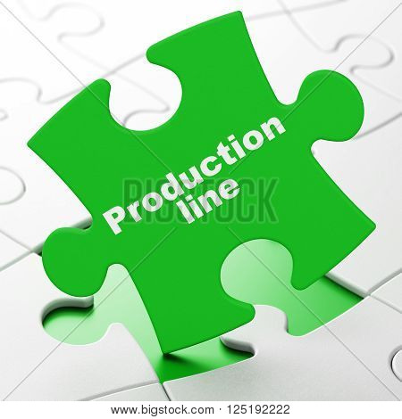 Industry concept: Production Line on puzzle background