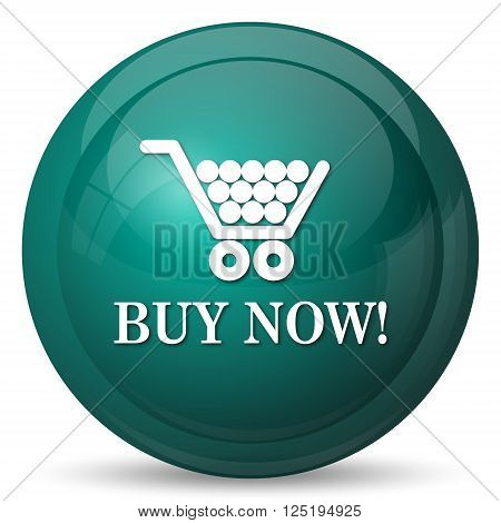 Buy now shopping cart icon Internet button on white background.