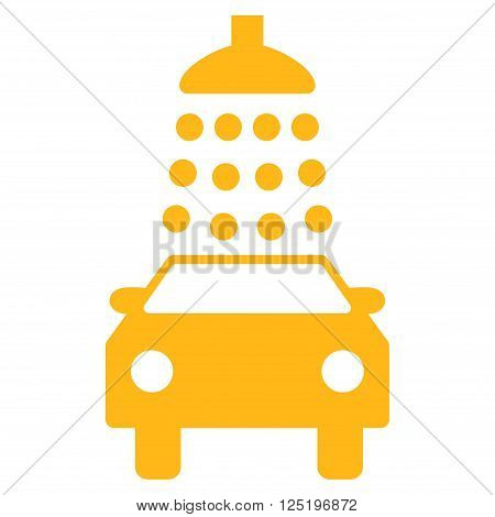 Car Wash vector icon. Car Wash icon symbol. Car Wash icon image. Car Wash icon picture. Car Wash pictogram. Flat yellow car wash icon. Isolated car wash icon graphic. Car Wash icon illustration.
