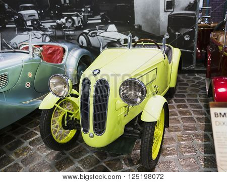 Russia, Moscow - 24 January 2015: Museum of Technology Vadim Zadorozhnogo - Russia's largest private museum of art BMW DIXI DA3 WARTBURG.