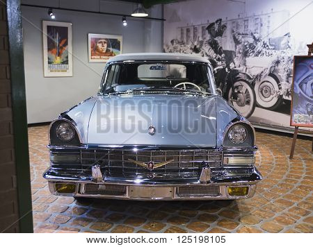 Russia, Moscow - 24 January 2015: Museum of Technology Vadim Zadorozhnogo - Russia's largest private museum of art ZIL 118B ss. Russia Moscow 24 January 2015
