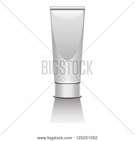 illustration of some of type of cosmetic tubes for shampoo, soap and others liquids