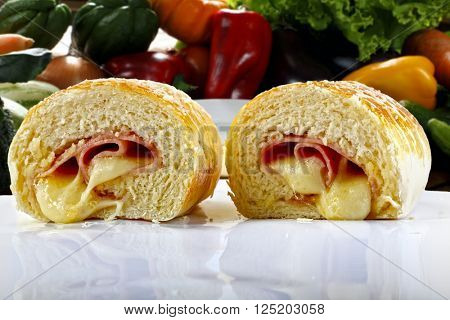 Appetizer stuffed with cheese