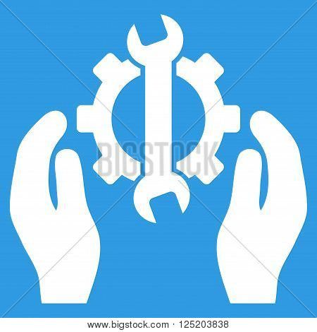 Repair Service vector icon. Repair Service icon symbol. Repair Service icon image. Repair Service icon picture. Repair Service pictogram. Flat white repair service icon.
