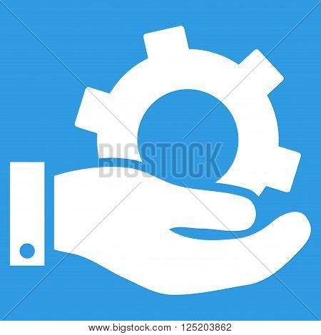 Service vector icon. Service icon symbol. Service icon image. Service icon picture. Service pictogram. Flat white service icon. Isolated service icon graphic. Service icon illustration.