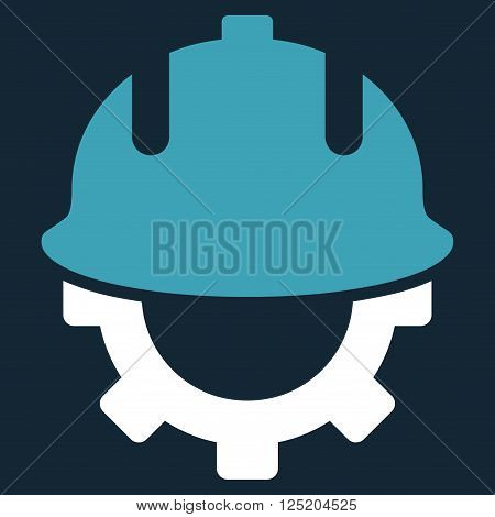 Development Helmet vector icon. Development Helmet icon symbol. Development Helmet icon image. Development Helmet icon picture. Development Helmet pictogram.