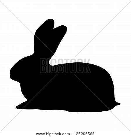 hare silhouette on a white background vector illustration