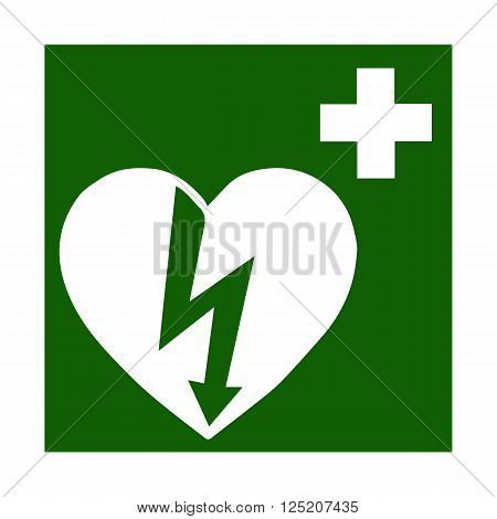 Vector fire emergency icons. Signs of evacuations. Doctor, emergency medicine chest  in green.