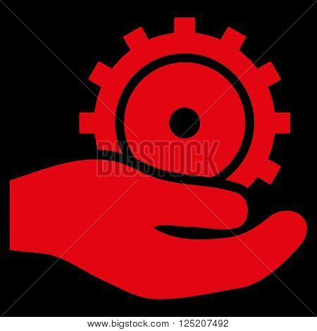 Development Service vector icon. Development Service icon symbol. Development Service icon image. Development Service icon picture. Development Service pictogram. Flat red development service icon.