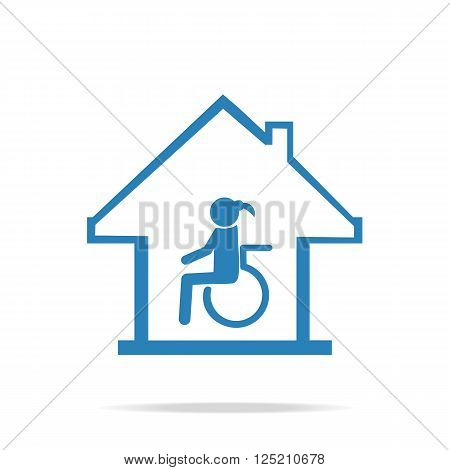 Disabled care Nursing home sign icon vector illustration