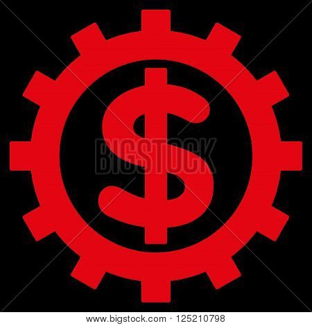 Financial Industry vector icon. Financial Industry icon symbol. Financial Industry icon image. Financial Industry icon picture. Financial Industry pictogram. Flat red financial industry icon.