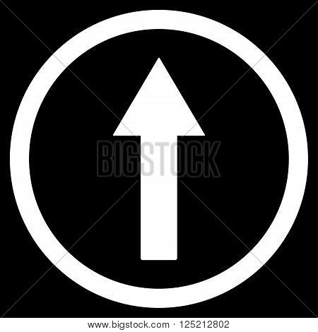 Up Rounded Arrow vector icon. Up Rounded Arrow icon symbol. Up Rounded Arrow icon image. Up Rounded Arrow icon picture. Up Rounded Arrow pictogram. Flat white up rounded arrow icon.