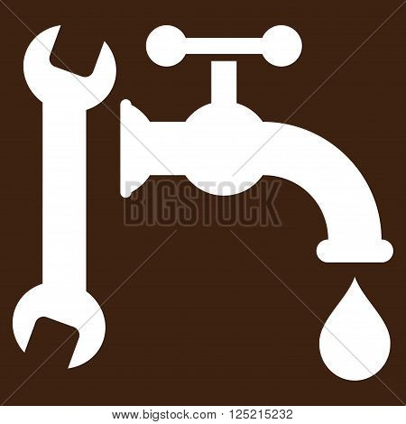 Plumbing vector icon. Plumbing icon symbol. Plumbing icon image. Plumbing icon picture. Plumbing pictogram. Flat white plumbing icon. Isolated plumbing icon graphic. Plumbing icon illustration.