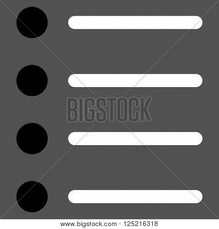 Items vector icon. Items icon symbol. Items icon image. Items icon picture. Items pictogram. Flat black and white items icon. Isolated items icon graphic. Items icon illustration.