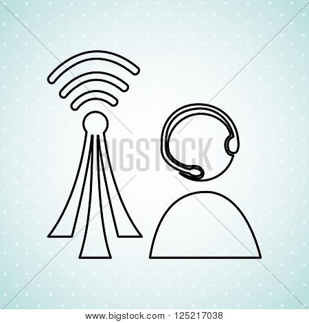 wireless signal design, vector illustration eps10 graphic