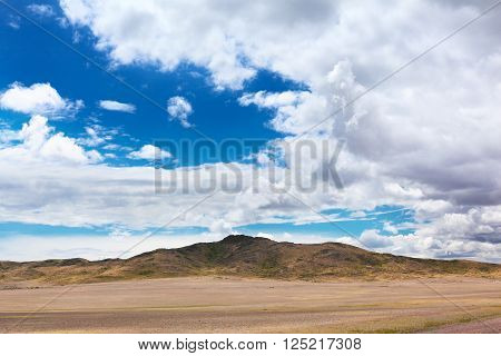 Landscape with mountain valley of Alatau, East Kazakhstan