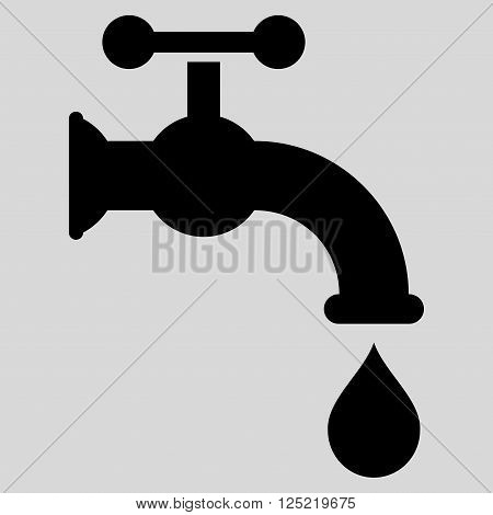 Water Tap vector icon. Water Tap icon symbol. Water Tap icon image. Water Tap icon picture. Water Tap pictogram. Flat black water tap icon. Isolated water tap icon graphic.