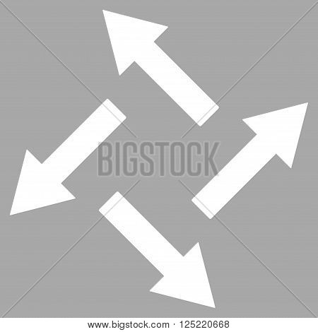 Centrifugal Arrows vector icon. Centrifugal Arrows icon symbol. Centrifugal Arrows icon image. Centrifugal Arrows icon picture. Centrifugal Arrows pictogram.