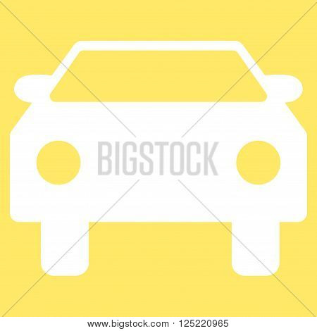 Car vector icon. Car icon symbol. Car icon image. Car icon picture. Car pictogram. Flat white car icon. Isolated car icon graphic. Car icon illustration.