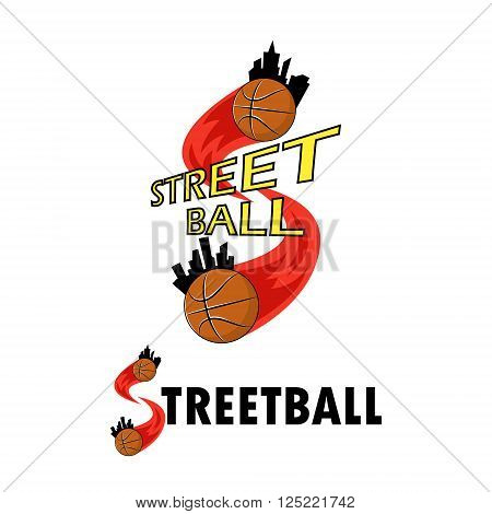 Logo for the streetball team or a cup on a white background
